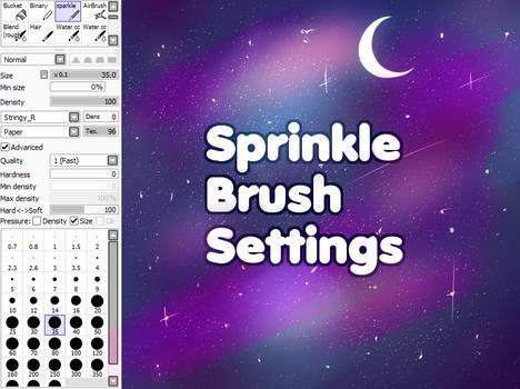 sprinkle brush (added fixes)