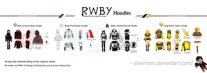 Team RWBY Hoodie Collection