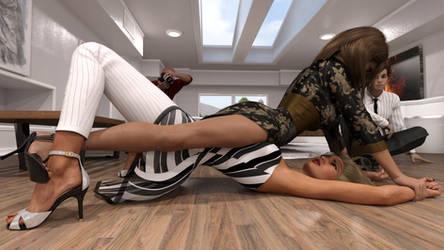 Apartment wrestling - Shoot my pindown!