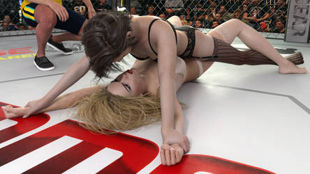 Wrestling in Lingerie - Helpless grapevine end by NickNight2018