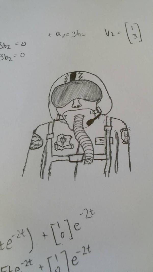Raptor Pilot in the cockpit by VenomousDragonaut