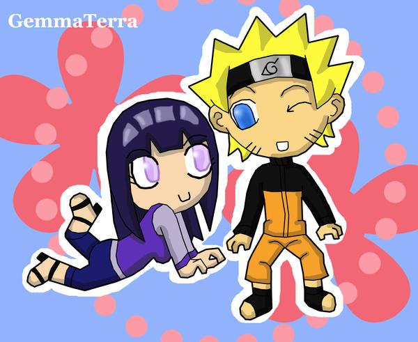 Naruto And Hinata Chibi by GemmaTerra