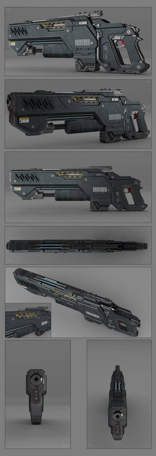 Battle rifle concept by peterku