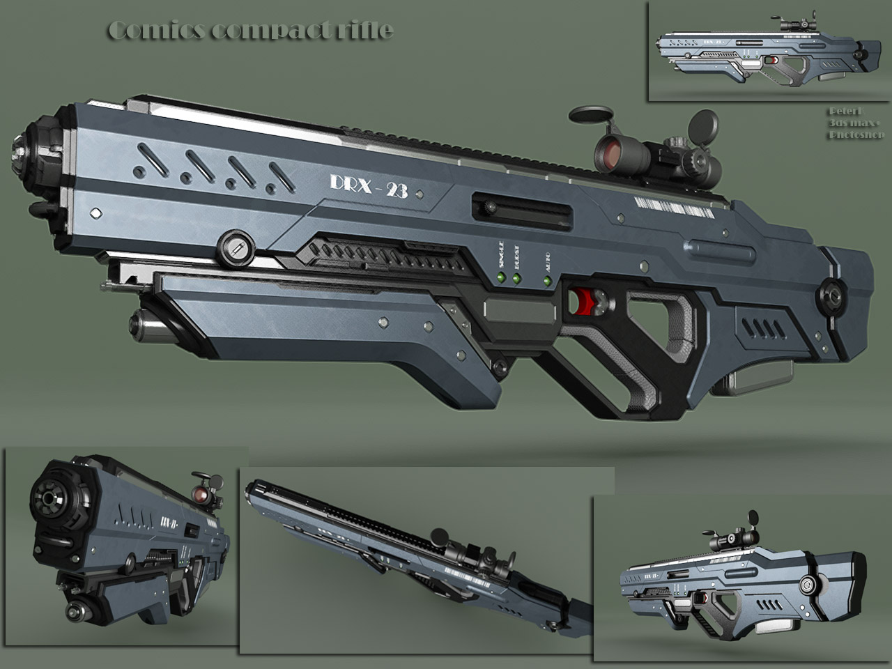 comics compact rifle by peterku