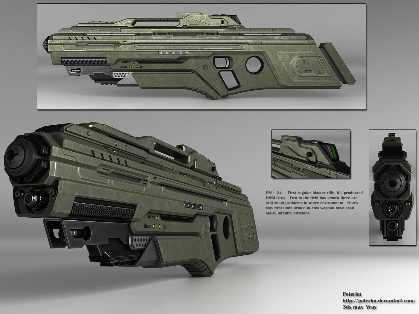 Blaster rifle by peterku