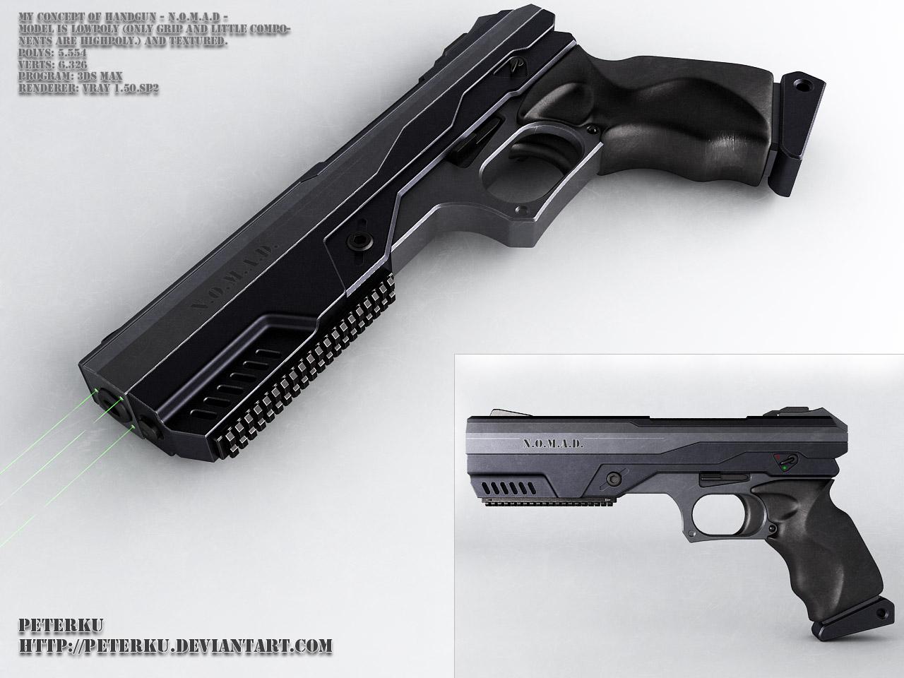 N.o.m.a.d  - handgun concept by peterku