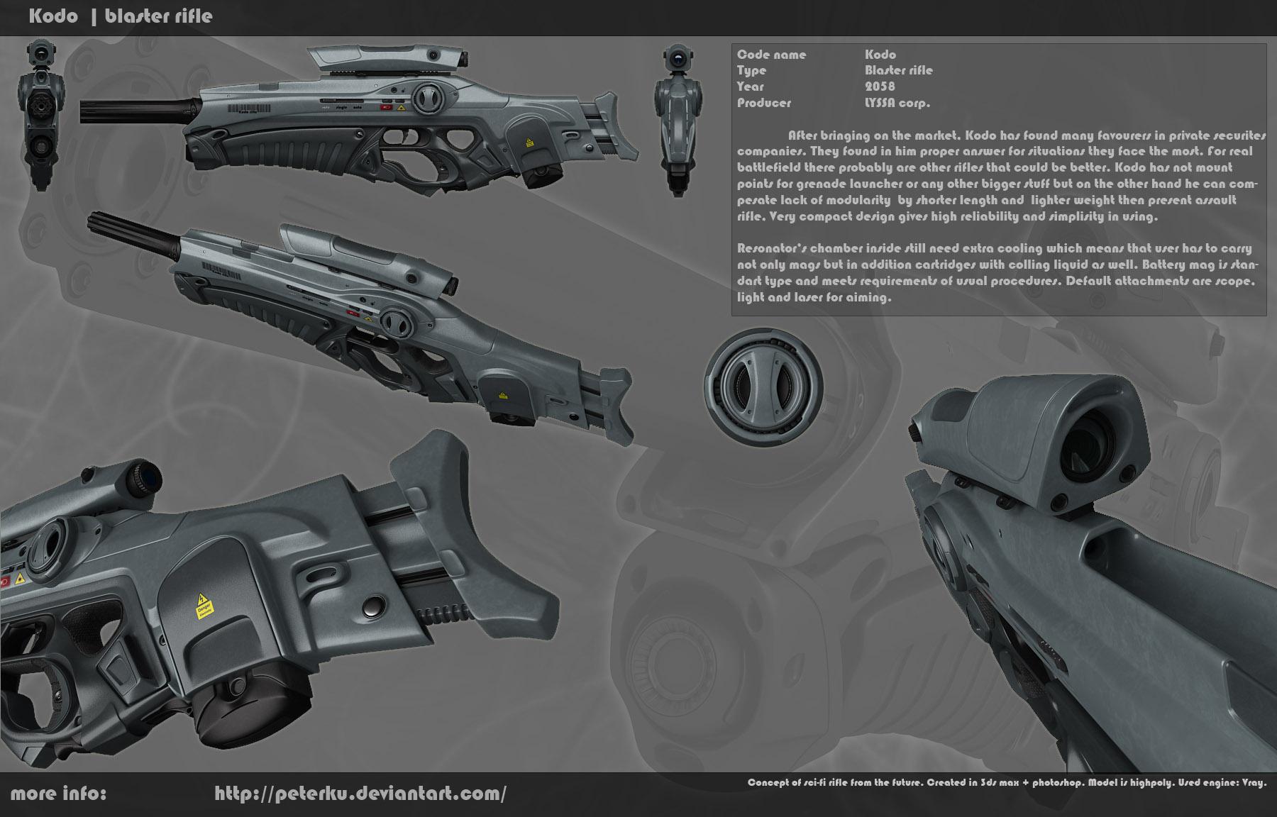 Kodo rifle - tech drawing by peterku