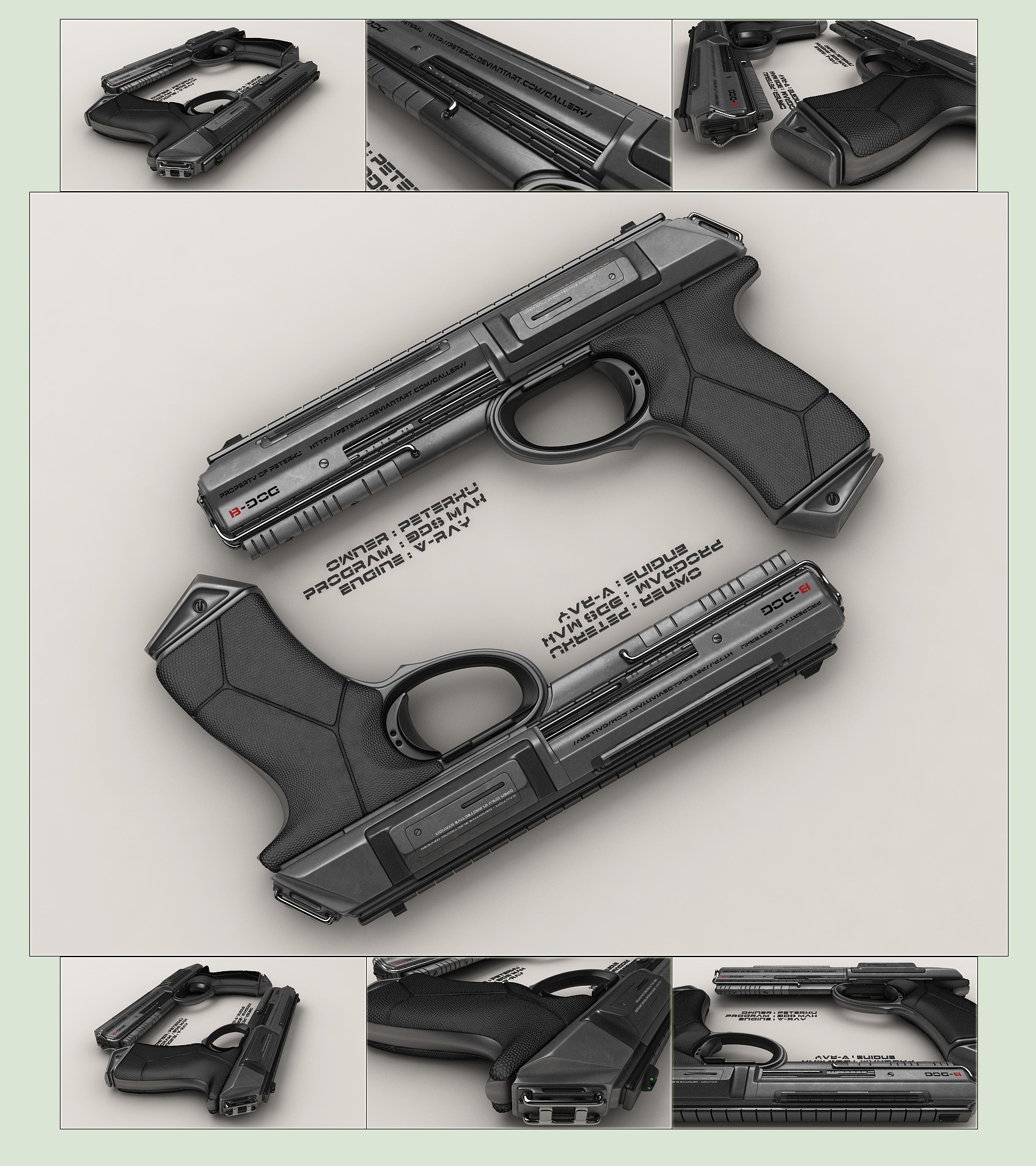 how to draw sci fi guns
