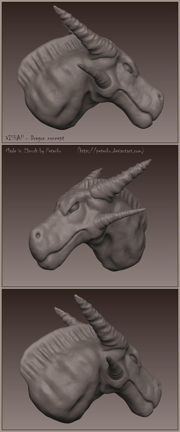 VISHAP - Dragon head concept by peterku