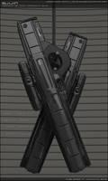 SUIJIN - Concept of sci fi pulse rifle.