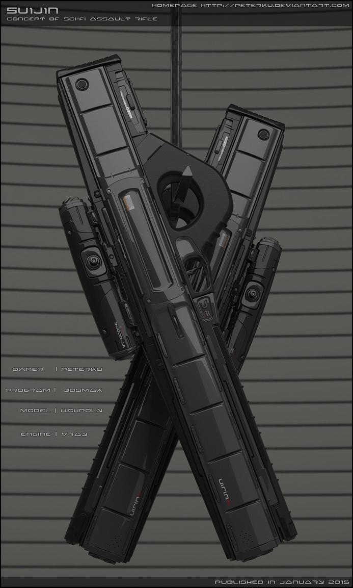 SUIJIN - Concept of sci fi pulse rifle. by peterku