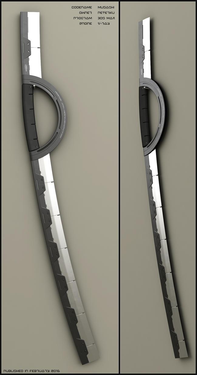 Musashi - concept of sci fi sword by peterku