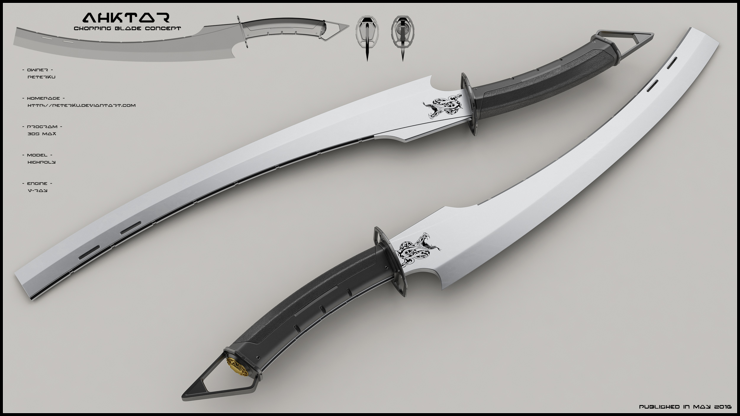 Ahktar Concept Of Modern Chopping Blade By Peterku On Deviantart