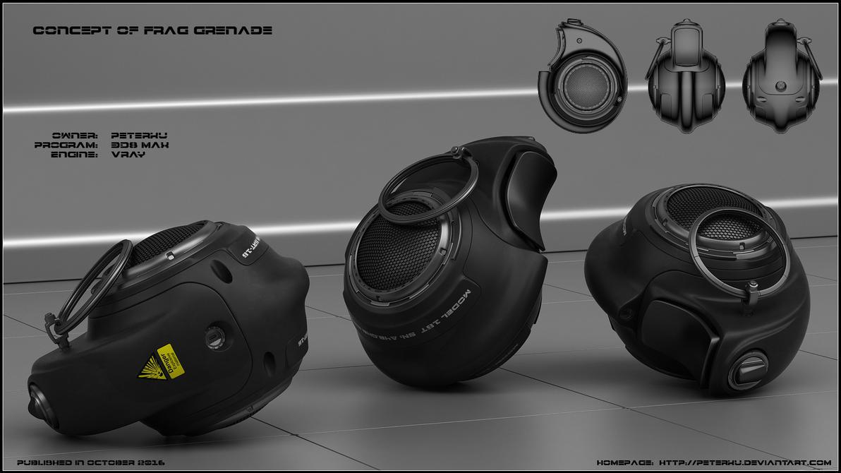 Frag grenade concept by peterku