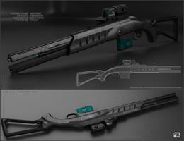 Mavric - sci fi shotgun by peterku
