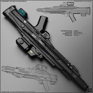Digo - concept of futuristic shotgun