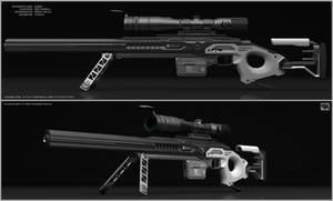 Csr - Concept of sci fi sniper rifle. by peterku