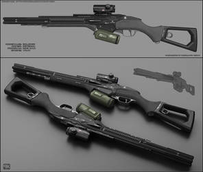 Eclipse - concept of sci fi shotgun by peterku