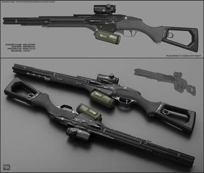 Eclipse - concept of sci fi shotgun by peterku