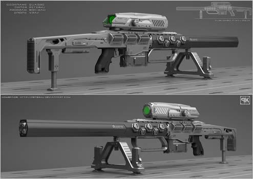 Quadro - Concept of sci fi sniper rifle. by peterku
