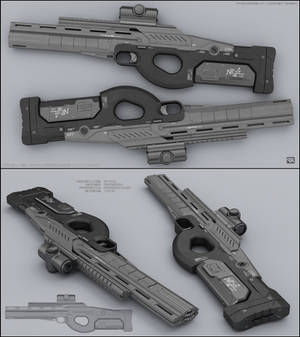O-tail : concept of sci fi rifle
