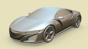 NSX Concept Car - Retopology WIP