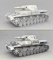 Panzer IV - Mesh Render