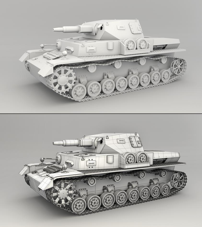 Panzer IV - Mesh Render by RegusMartin