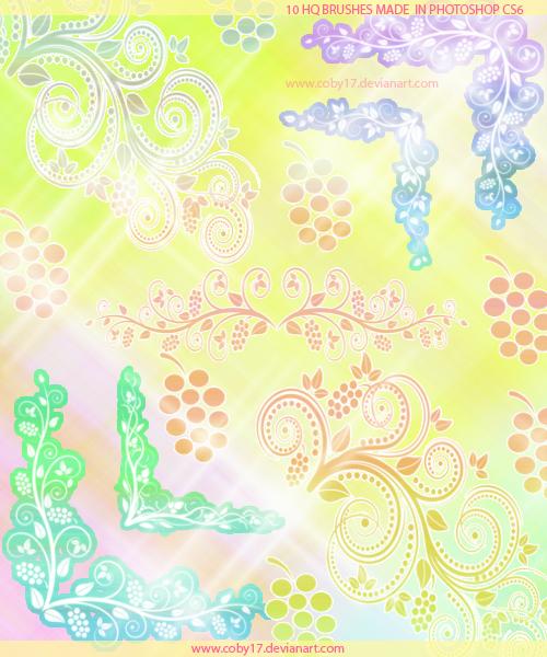 Spring Swirls Corners by brenda by Coby17
