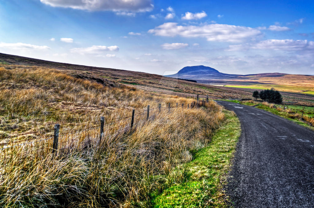 On the road to Slemish Mountain by LogoPad