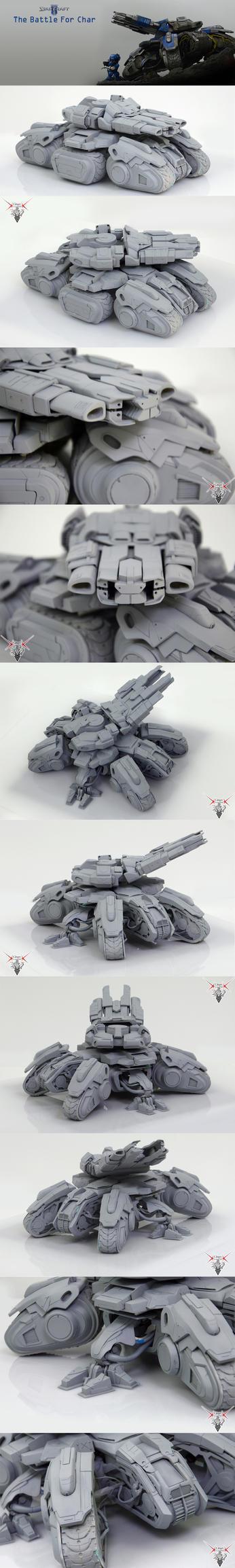 handmade Siege Tank StarCraft - part3 by Mr-ORSO