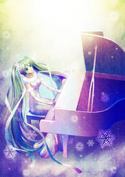 MIKU and piano by Renka-vesper