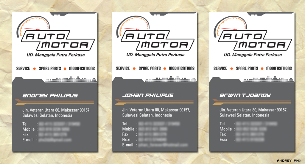 Auto Motor name card design by kaizer-phoenix on DeviantArt