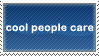 cool people care : stamp by ifyouplease