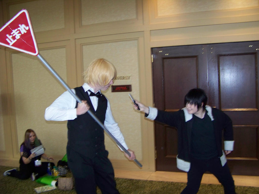 Durarara!! Cosplay Shizuo and Izaya by mistylovesrocklee ...