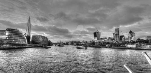 HDR Thames River_ Tower Bridge View