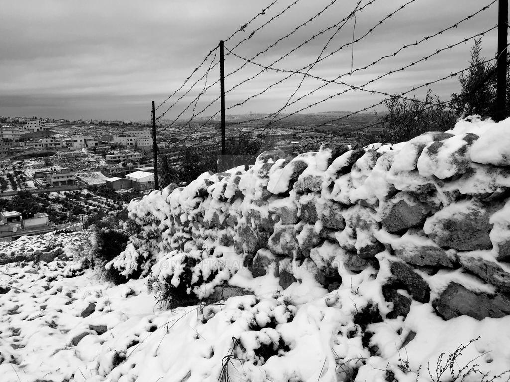 White Jerusalem - Fence  by nasahkalam