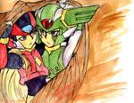 Zero and Harp cloak doodle by DarkxZero23