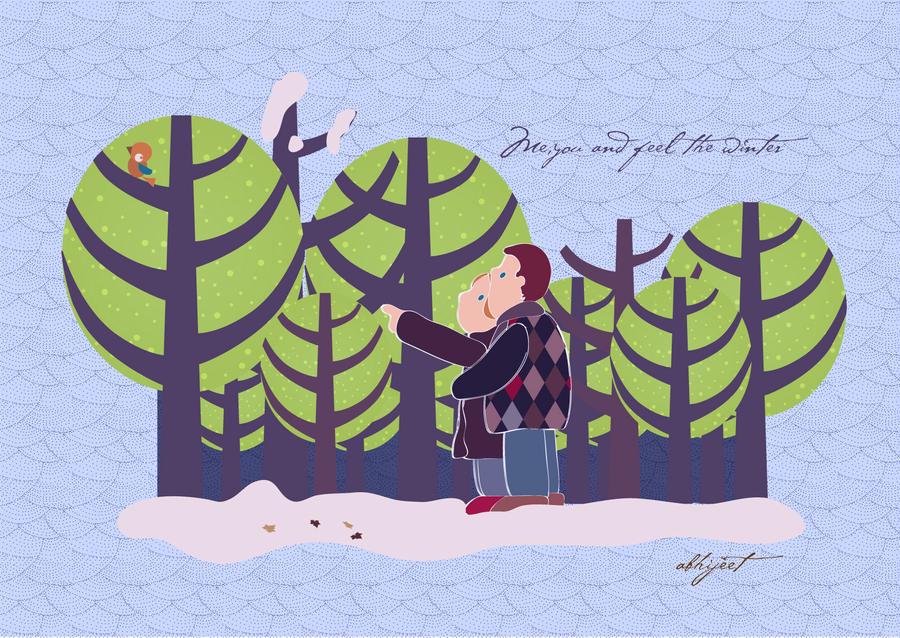 winter love 2 by abhijeetart