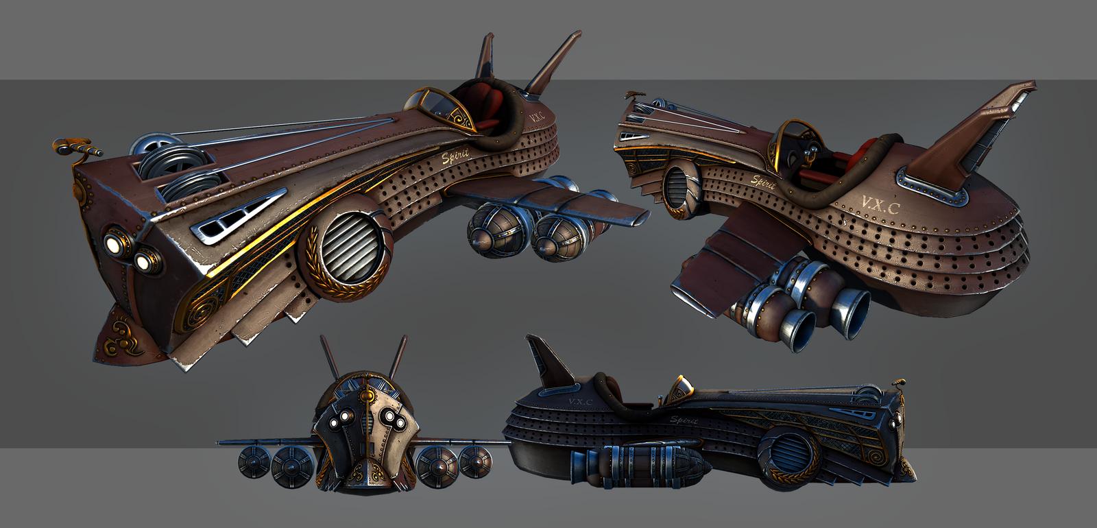 Spirit - Steampunk Flightcraft by Nosslak
