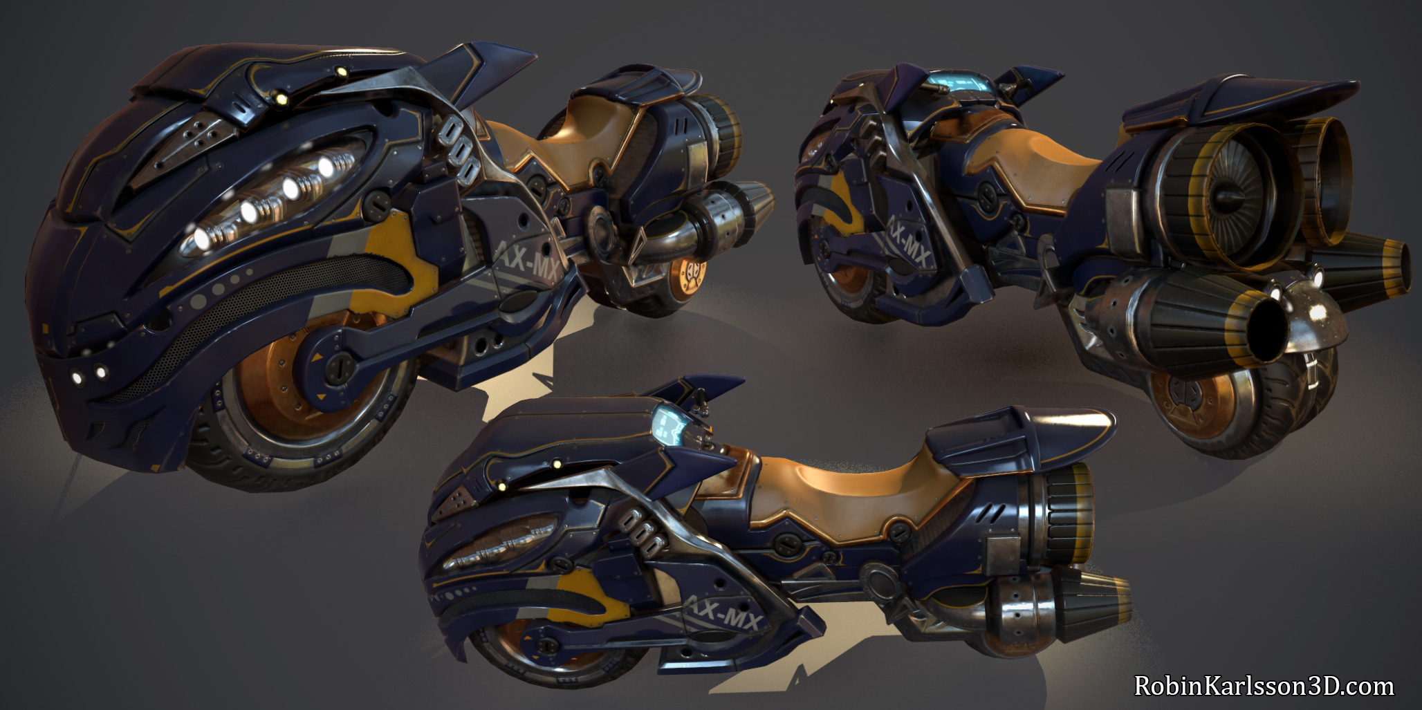 Massive Sci-fi Bike by Nosslak