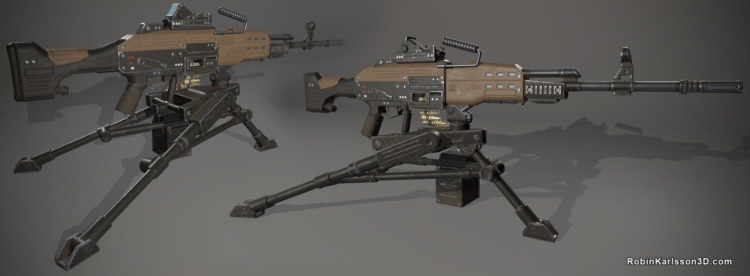 Futuristic Machinegun by Nosslak