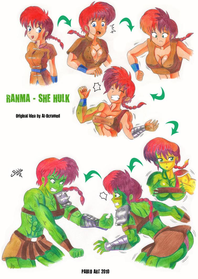 Ranma_She Hulk by locofuria on DeviantArt