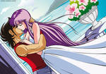 Saori x Seiya kiss