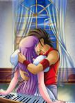 Saori x Seiya kiss 3