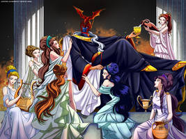 The Patriarch and his maidens