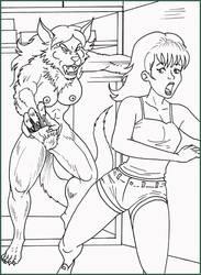 Sandra Werewolf by locofuria