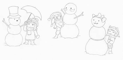 A Hat in Time: Snowmen by Natalya-Chan