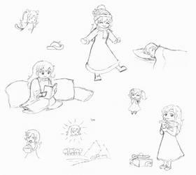 Ib: Mary sketches 5 by Natalya-Chan
