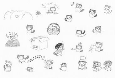 Nya and friends: Sketches 28 by Natalya-Chan